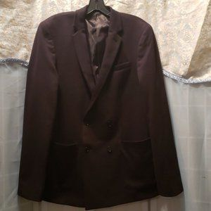 MEN'S ASOS BLK POLY/COTTON BLAZER SZ 38